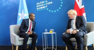 Somali PM meets with British counterpart and foreign minister