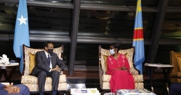 Somali president in Congo to meet Uhuru