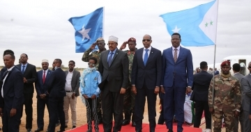 Somali president arrives in central town for talks with regional leaders