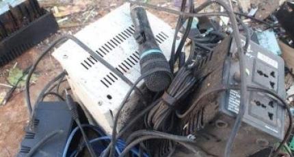 Sawirradii burburka Al-Furqaan Radio kasoo gaarey Duqeynta
