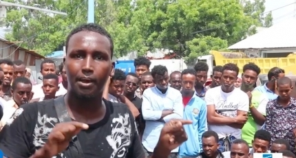 Protests in Mogadishu over bad roads and lack of sewer system