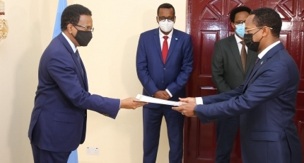 Farmajo receives credential letter from Ethiopian Ambassador
