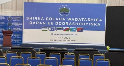 An event to sign election deal underway in Mogadishu