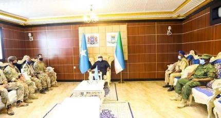 Farmajo invites his close-vigilantes to the Villa Somalia