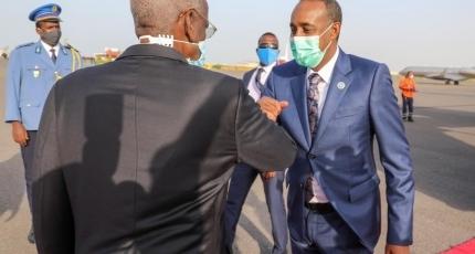 Rooble representing Farmaajo in the inauguration ceremony of Djibouti's Geelle