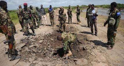 Bomb wounds 4 soldiers in Somali capital amid political tension