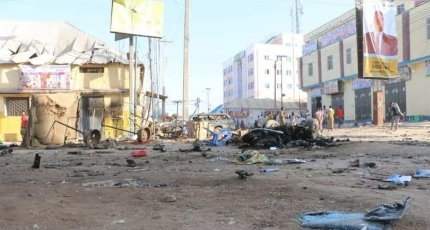 Three killed in suicide bombing outside Somalia hotel
