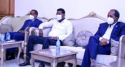 Two regional leaders meet with former presidents