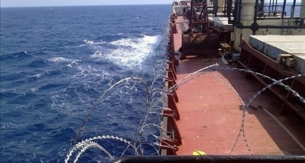 US Navy rescues 15 crew from sinking cargo ship off Somalia