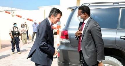 Madaxweynaha Galmudug oo la kulmay wakiilka EU ee Somalia