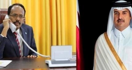 Amiirka Qatar oo qadka Taleefonka kula hadlay Farmaajo iyo Uhuru