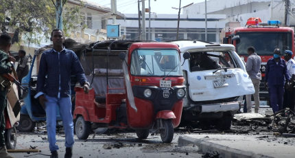 Two killed and 10 hurt in car bomb blast in Somalia's capital