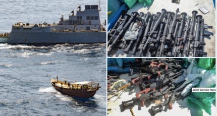 US warship Seizes Illicit Weapons off Somalia coast