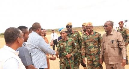Somali army chief arrives in Hiiraan amid anti-al-Shabaab push