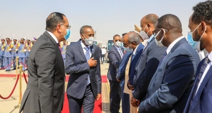 Somali PM arrives in Egypt for talks with Al-Sisi