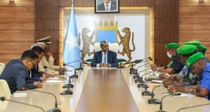 PM meets with Somali and AU police chiefs ahead of election