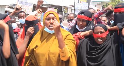 Hundreds stage protest against AMISOM after killing civilians