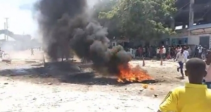Protest erupts in Mogadishu over president's term extension